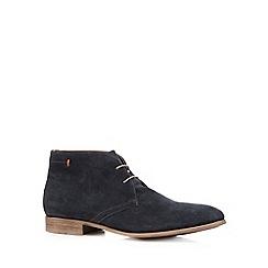 J by Jasper Conran - Designer navy textured chukka boots