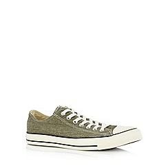 Converse - Khaki lace up trainers