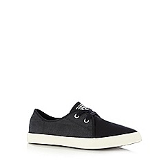 Converse - Black logo lace up trainers