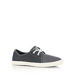 Converse - Grey logo lace up trainers