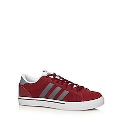 adidas - Red 'Daily St Lo' suede trainers