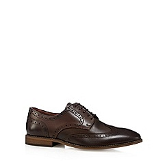 RJR.John Rocha - Designer chocolate leather lace up brogues