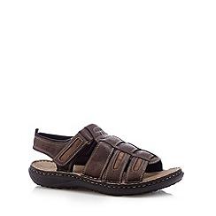 Hotter - Brown leather slingback ankle strap sandals