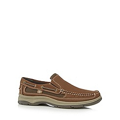 Hotter - Brown leather boat shoes