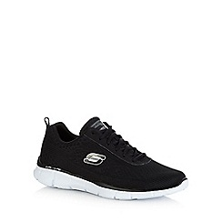 Skechers - Big and tall black 'equalizer-quick reaction' trainers