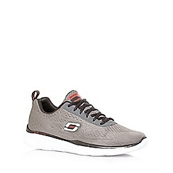 Skechers - Big and tall dark grey 'equalizer-quick reaction' trainers