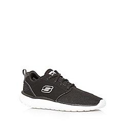 Skechers - Black 'Counterpart' lightweight suede trainers