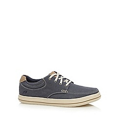 Skechers - Navy 'Define Soden' moccasin lace up shoes