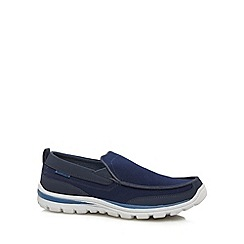 Skechers - Navy 'Superior Faris' slip on shoes