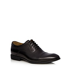 Steptronic - Black leather Oxford shoes