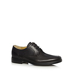 Steptronic - Big and tall black leather lace up shoes