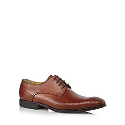 Steptronic - Tan leather perforated detail shoes