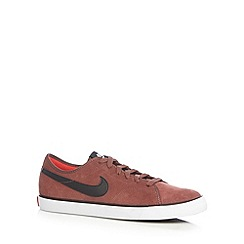 Nike - Terracotta 'Primo Court' suede trainers