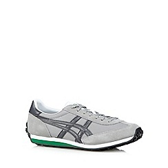 Onitsuka Tiger - Grey suede mesh logo trainers