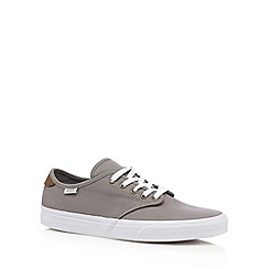 Vans - Light grey canvas lace up trainers