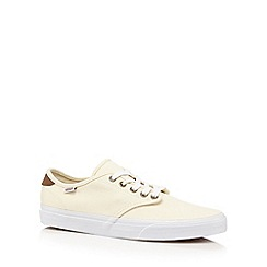 Vans - Cream canvas lace up trainers