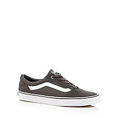Vans - Grey leather mix logo lace up trainers