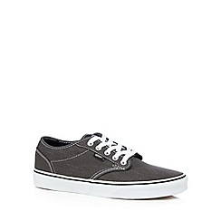Vans - Black striped canvas lace shoes