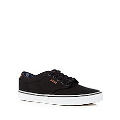 Vans - Black leather lace up trainers