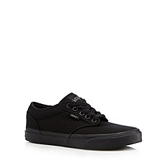 Vans - Black plain lace up trainers