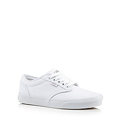 Vans - White plain lace up trainers