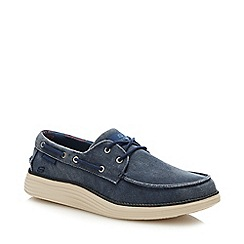 Vans - Navy plain lace up trainers