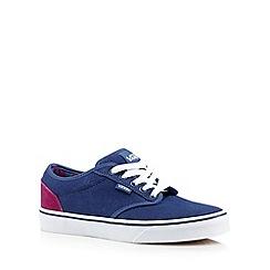 Vans - Blue suede lace up trainers