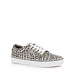 Vans - Natural leopard print trainers