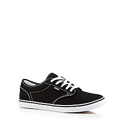 Vans - Black logo lace up trainers