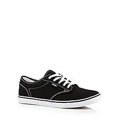 Vans - Black logo lace up trainers