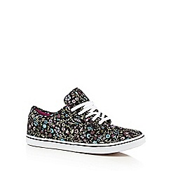 Vans - Black 'Atwood' floral trainers
