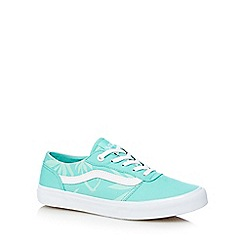 Vans - Aqua palm tree printed canvas trainers