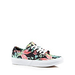 Vans - Black floral lace up trainers