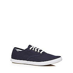 Keds - Navy canvas lace up trainers