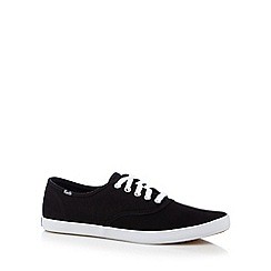 Keds - Black canvas plimsolls
