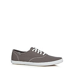 Keds - Grey canvas lace up trainers
