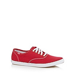 Keds - Red canvas lace up trainers