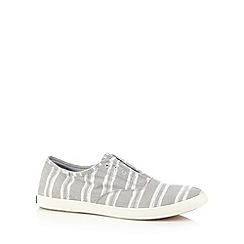 Keds - Grey striped slip on shoes