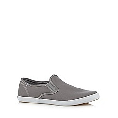 Keds - Grey canvas slip on trainers