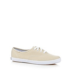 Keds - Dark cream canvas plimsolls