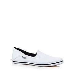 Keds - White canvas slip on shoes