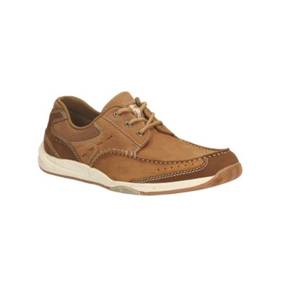 Clarks Allston Edge Tan Nubuck Casual Lace Up Shoe - . -
