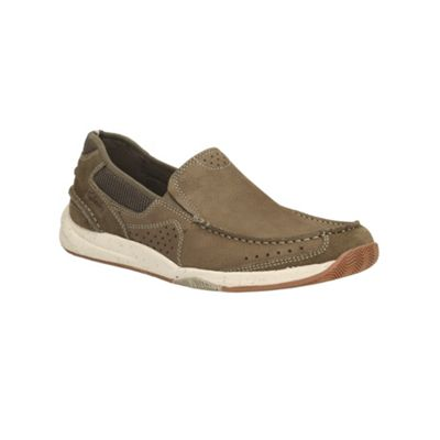 Clarks Allston Free Olive Nubuck Casual Slip on Shoe - . -
