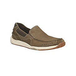 Clarks - Allston Free Olive Nubuck Casual Slip on Shoe