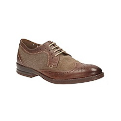Clarks - Delsin Wing Brown Combi Leather Brogue