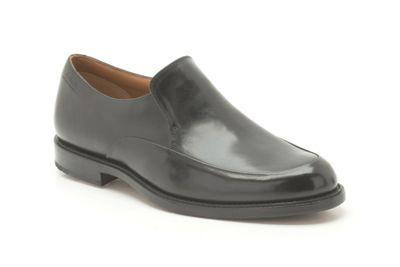 Clarks Dorset Step Black Leather Slip On Shoe - . -