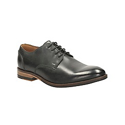 Clarks - Exton Walk Black Leather Brogue