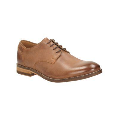 Clarks Exton Walk Dark Brown Leather Brogue - . -