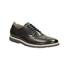 Clarks - Gabson Limit Black Interest Leather Brogue