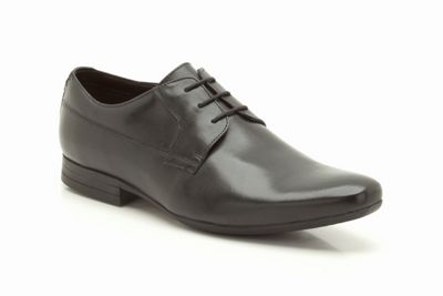 Clarks Grant Walk Black Leather Formal Lace Up Shoe - . -